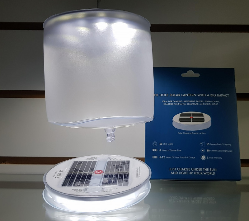 Farol inflable con panel solar